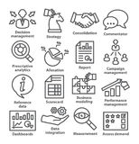 Business management icons in line style. Pack 18. Stock Photo