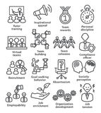 Business management icons in line style. Pack 21. Royalty Free Stock Images