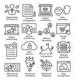 Business management icons in line style. Pack 24. Stock Photography