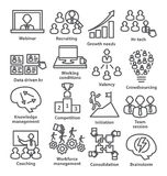 Business management icons in line style. Pack 30. Stock Image