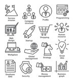 Business management icons in line style. Pack 29. royalty free illustration