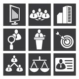 Business management icons Stock Images