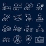 Business and management icons outline Stock Images