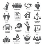 Business management icons Pack 38 Royalty Free Stock Photography