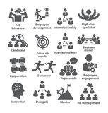 Business management icons Pack 33. On white background Stock Photography