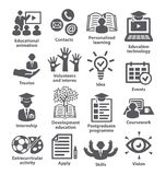 Business management icons Pack 35. Icons for business, education, career, strategy, training marketing Royalty Free Stock Photography