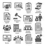 Business management icons Pack 37 Stock Images