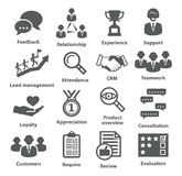 Business management icons. Pack 03. Stock Image