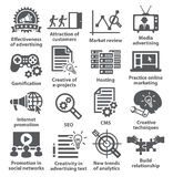 Business management icons. Pack 05. Royalty Free Stock Image