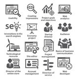 Business management icons. Pack 07. Royalty Free Stock Photo