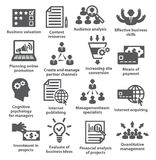 Business management icons. Pack 09. Stock Image