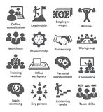 Business management icons. Pack 11. Royalty Free Stock Image