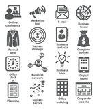 Business management icons. Pack 12. Business management icons on white. Pack 12 Royalty Free Stock Photo