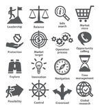 Business management icons. Pack 13. Stock Photography