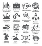 Business management icons. Pack 15. Business management icons on white. Pack 15 Royalty Free Stock Image