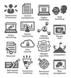 Business management icons. Pack 24. Stock Image