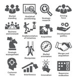 Business management icons. Pack 27. Royalty Free Stock Images