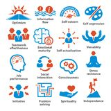 Business management icons. Pack 06. Stock Images
