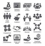 Business management icons Pack 32 Stock Photography
