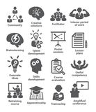 Business management icons Pack 31. On white background Stock Photos