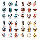 Business and management icons Stock Photos