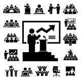 Business and Management Icons set Stock Photos