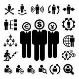 Business and Management Icons set Royalty Free Stock Photos