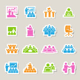 Business and Management Icons set Royalty Free Stock Photography
