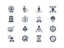 Business and management icons royalty free illustration