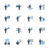 Business Management Icons Set 2 - Blue Series. This set contains business management icons that can be used for designing and developing websites, as well as Royalty Free Stock Image