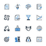 Business Management Icons Set 4 - Blue Series Royalty Free Stock Images