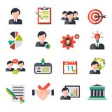 Business Management Icons royalty free illustration