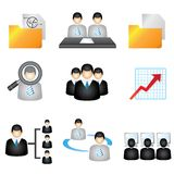 Business management icons Stock Photos