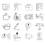Business management icons Stock Image
