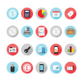 Business and management icons set. Royalty Free Stock Image