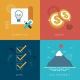 Business management icons Royalty Free Stock Photography