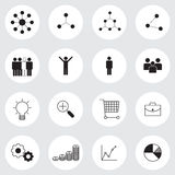 Business management icons set Royalty Free Stock Image