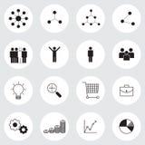Business management icons set Royalty Free Stock Image