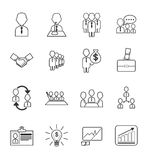 Business management  icons set Royalty Free Stock Images