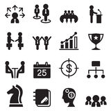 Business management icons set Stock Photography