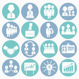 Business management icons set Royalty Free Stock Photography