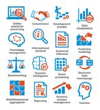 Business management icons. Pack 04. Stock Images