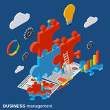 Business management, innovation, solution search, startup vector concept. Business management, innovation, solution search, startup flat isometric vector concept Royalty Free Stock Photography