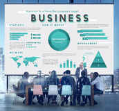 Business Management Marketing Global Plan Concept royalty free illustration