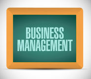 Business management message on a board. Royalty Free Stock Photos