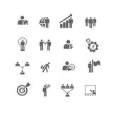 Business Management Metaphor Icons. Set of 16 icons of business and management metaphors.  Sliced for PNG Stock Photo