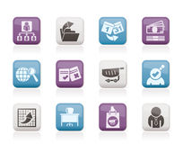 Business,  Management and office icons Royalty Free Stock Images