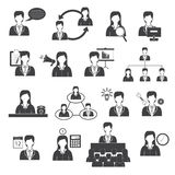Business Management and Organization Icons Set Royalty Free Stock Photos