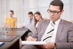 Business management process at the meeting Stock Photos