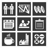 Business management set Stock Images